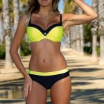 Candy colors bikini swimsuits