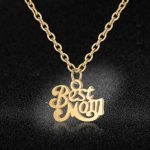 Stainless Steel Best Mom Charm Necklace